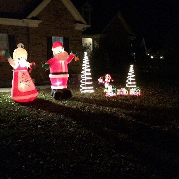 Santa Mrs Claus Mickey: A few of our outdoor decorations
